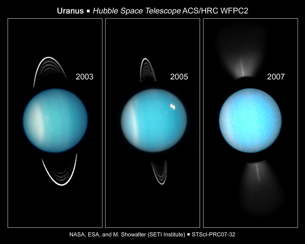 Uranus. Image credit: Hubble