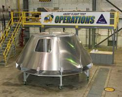 Mockup of Orion. Image credit: NASA