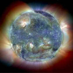 Image of the Sun captured by SOHO