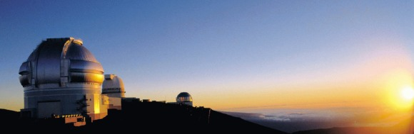 The Sun sets over the Gemini observatory (credit: UK Gemini Office)