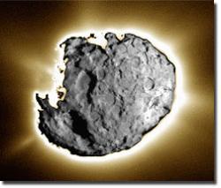 Stardust image of Wild 2. Image credit: NASA/JPL