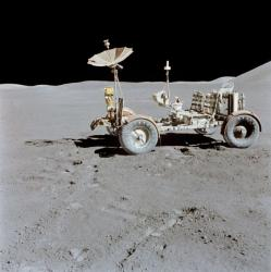 The Apollo 15 lunar rover - very lightweight, only intended to get ar
