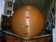 A COPV containing helium on board the Shuttle (credit: NASA)