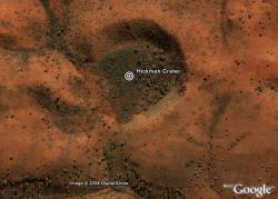 Hickman Crater. Image credit: Google Earth