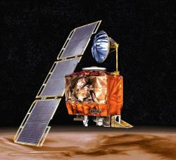 An artists impression of the Mars Climate Orbiter (credit: NASA)