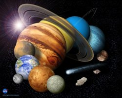 Montage of the Solar System. image credit: NAS