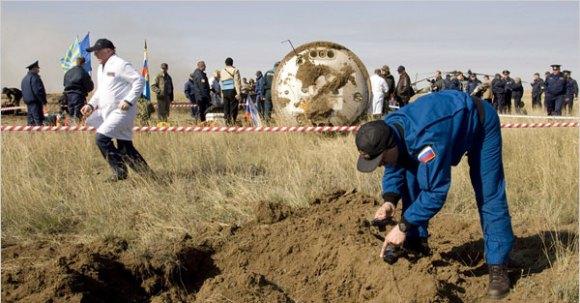 The Soyuz landing site (Shamil Zhumatov)