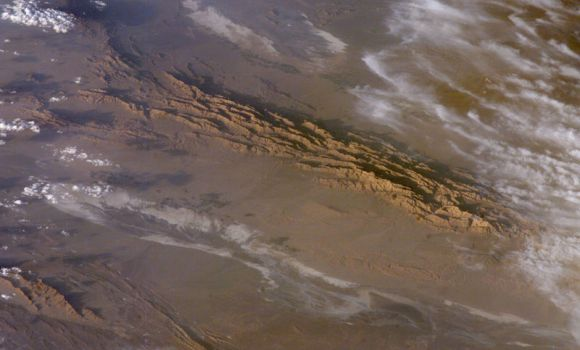 Death Valley, the hottest spot on Earth, as seen from space. Credit: NASA.
