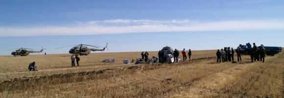 the Kasahkstan landing site in September 2007 ()