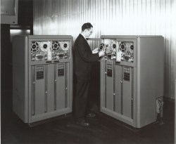 An IMB 726, a precursor of the 729 data recorder.  Credit: IBM