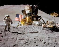 Astronauts on the Moon. Image credit: NASA