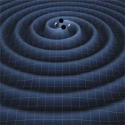 Binary waves from black holes. Image Credit: K. Thorne (Caltech) , T. Carnahan (NASA GSFC)