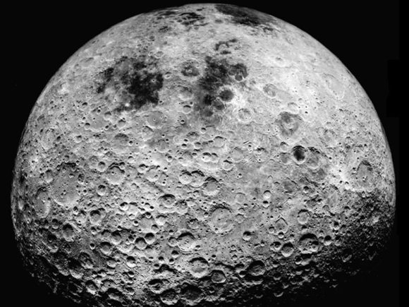 The far side of the moon, as seen by the Apollo 16 astronauts.  Credit: NASA