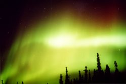 Aurora from 2002 in Poker Flats, Alaska.  Credit: Dr. Scott Bounds