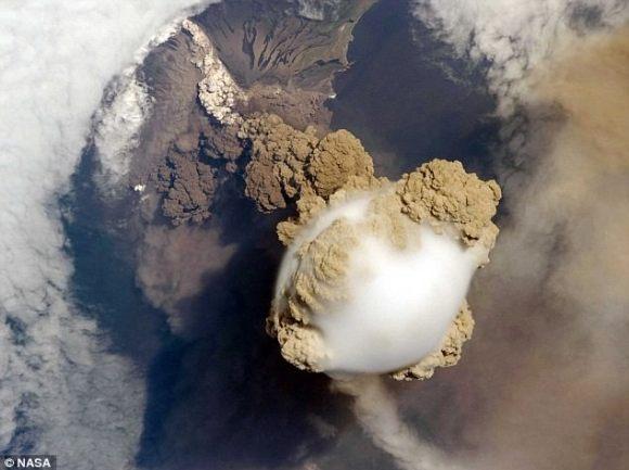 Second image of Sarychev Volcano. Credit: NASA