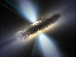 Artist's illustration of a supermassive black hole. Image credit: NASA