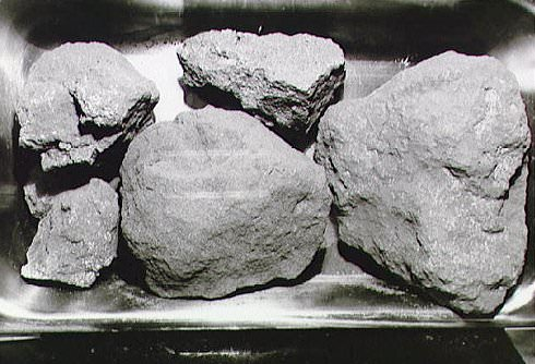 Moon rocks. Credit: NASA