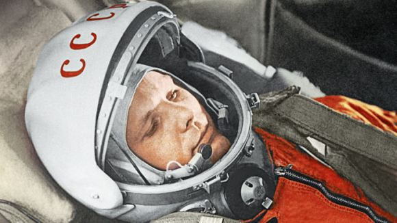 Yury Gagarin before a space flight aboard the Vostok spacecraft. April 12, 1961 Credit: RIA Novosti