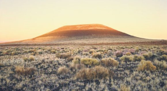 The Roden Crater, viewed from ground level at sunset. Credit: rodencrater.com