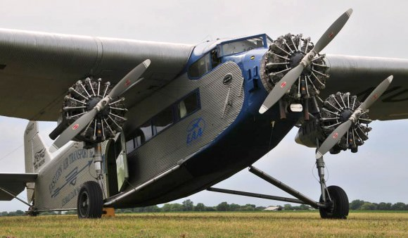 The Experimental Aircraft Association is bringing a 1929 Ford Tri-Motor to the Purdue Airport on Wednesday (Sept 5). Purdue students, faculty and staff will be able to ride in the plane, which served as one of the worldÕs first airliners. (Photo provided by the Experimental Aircraft Association)