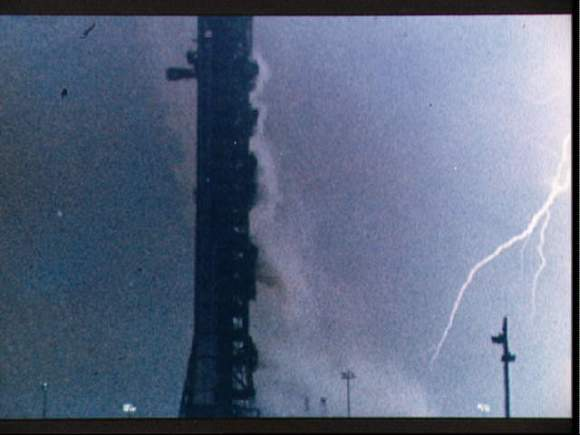 Lightning bolt during the launch of