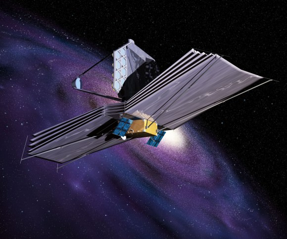 An Artist's Conception of the James Webb Space Telescope. Credit: ESA.