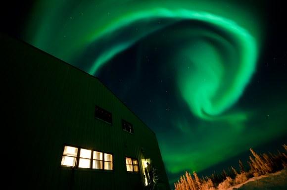 Astrophoto: Swirling Aurora by Jason Ahrns