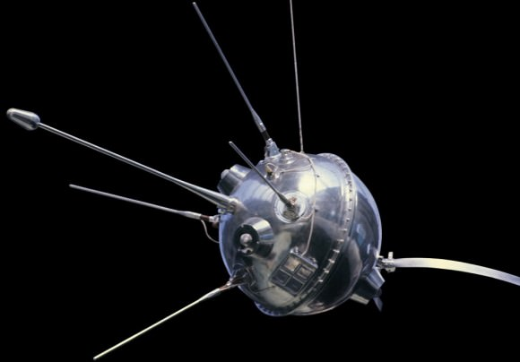 The Soviet Luna 1 Robotic space probe. Credit: RIA Novosti/ Alexander Mokletsov/Public Domain