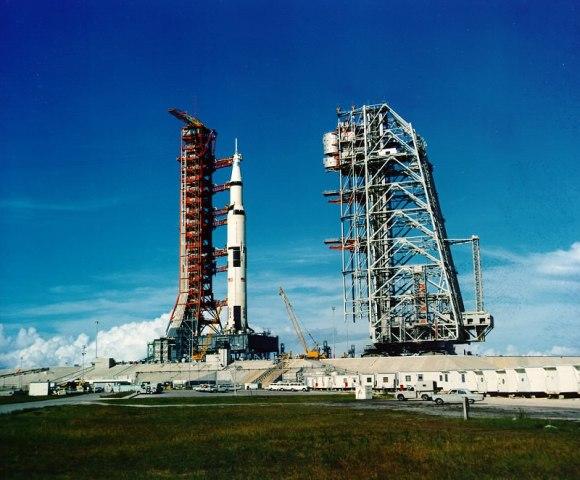 Apollo 11 Saturn V on launch pad 39A,July 1, 1969. Credit: NASA