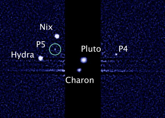 Pluto's known system of moons (NASA/ESA/M. Showalter))
