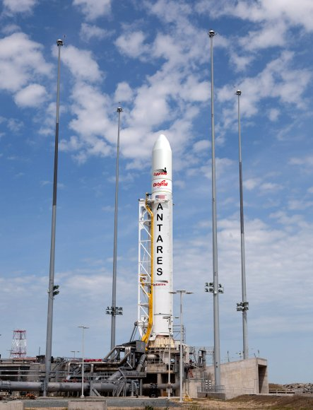 Orbital Antares rocket at Wallops Island Pad. Credit: Orbital Sciences