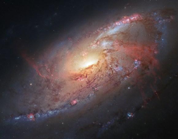 Messier 106 Hubble Release
