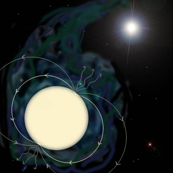 Artist's conception of a pulsar. (Credit: NASA/GSFC).