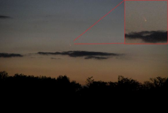 Comet PanSTARRS seen from Hudson Florida on the evening of March 10th (Photo by Author).