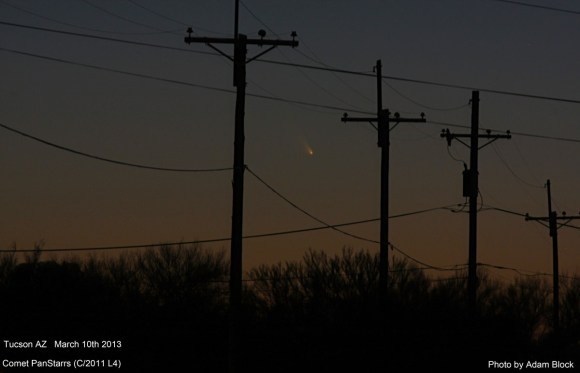 First views of Comet PANSSTARRS from Tucson, Arizona. Credit and copyright: Adam Block/Mount Lemmon SkyCenter.