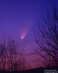 The view of Comet PANSTARRS  L4  on 03-22-2013 over Warrenton, Virginia.  Credit and copyright: John Chumack.