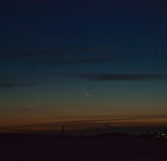 A first capture of Comet PANSTARRS on March 14, 2013. Credit and copyright: Adam Wipp.
