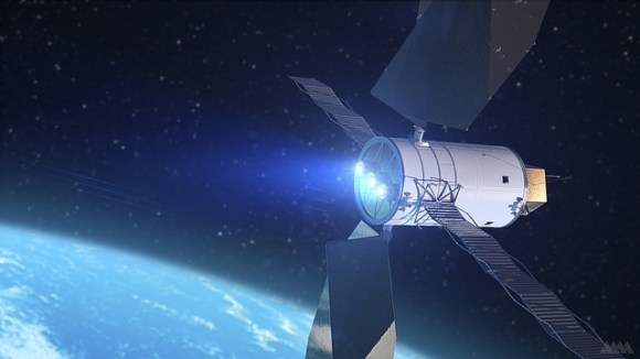Artist's Concept of a Solar Electric Propulsion System. Credit: NASA.