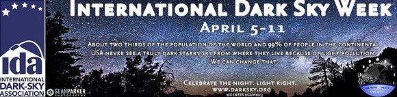 International Dark Sky Week banner, courtesy Sean Parker Photography.