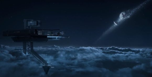 A shattered Luna as depicted in the summer blockbuster Oblivion. (Credit: Universal Pictures).