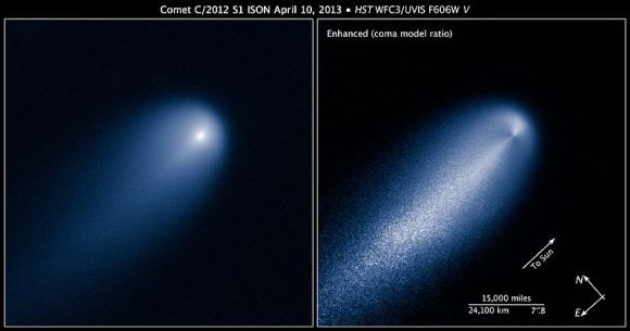 ISON as seen by Hubble earlier this spring. (Credit: NASA/ESA/Z. Levay/STScl).