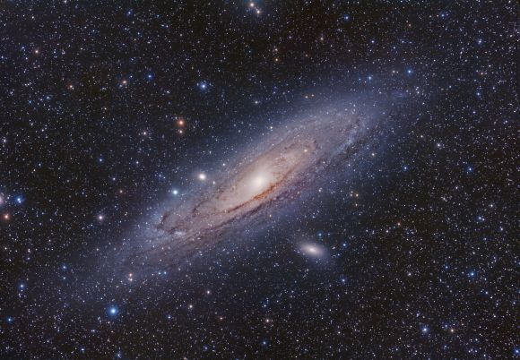Color view of M31 (The Andromeda Galaxy). Credit and copyright: Terry Hancock.