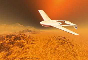 A concept for an airplane on Mars. Credit: MIT