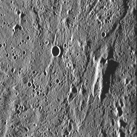 This elevated rise on Mercury resembles a vaguely humanoid shape