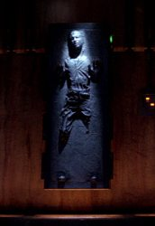 """Oh, they've encased him in carbonite. He should be quite well protected."""
