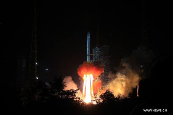 Liftoff of China's first ever lunar rover on Dec. 2 local China time from the Xichang Satellite Launch Center, China. Credit: CCTV