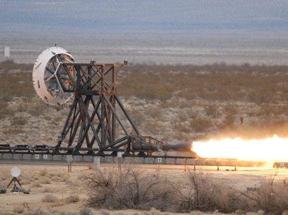 "The ""rocket sled"" that is a part of the Low-Density Supersonic Decelerator Project testing methods to slow spacecraft before they land. Credit: NASA"