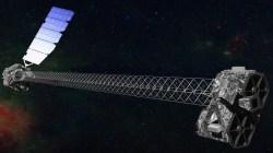 Artist's concept of NuSTAR in orbit. (NASA/JPL-Caltech)