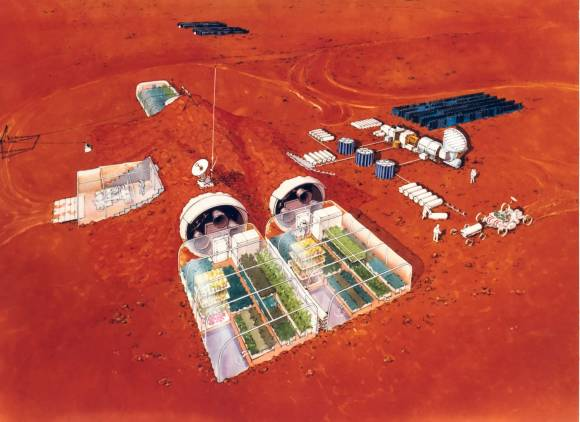 Artist's concept of a habitat for a Mars colony. Credit: NASA