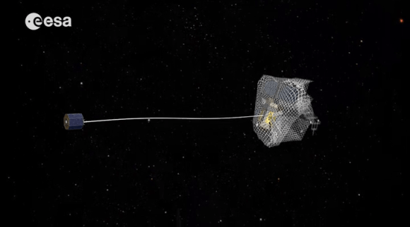 One design idea for the e.DeOrbit mission, which would retrieve dead satellites from orbit. Credit: European Space Agency